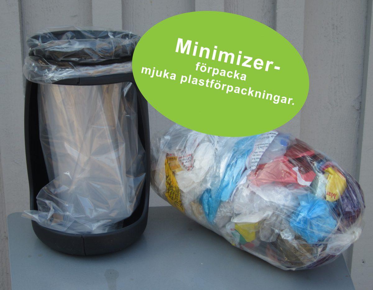 Förpacka avfallet innan du slänger det i kärlet!